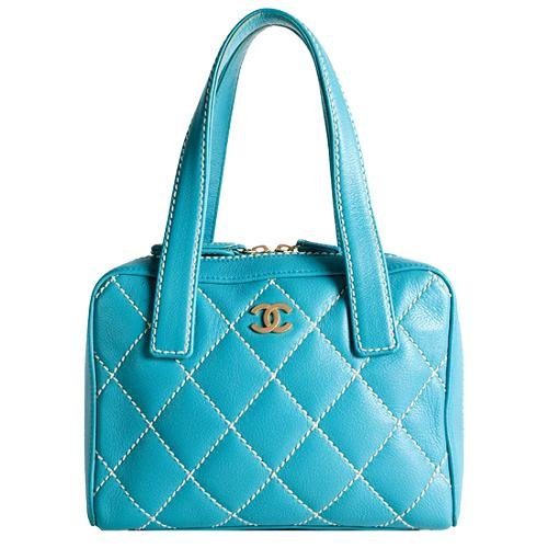 Chanel Quilted Surpique Top Handle Tote