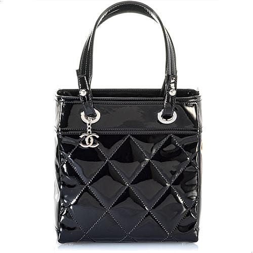 Chanel Quilted Vinyl Paris Biarritz Small Tote