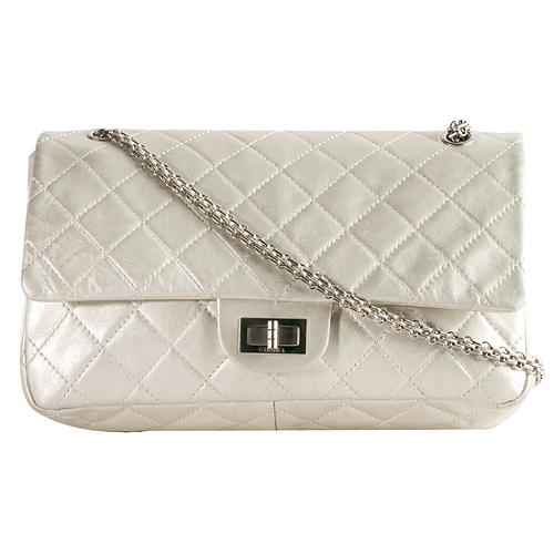 Chanel Reissue 2.55 Classic 226 Quilted Double Flap Shoulder Handbag