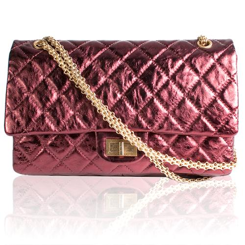 Chanel Reissue 2.55 Classic 227 Quilted Double Flap Handbag