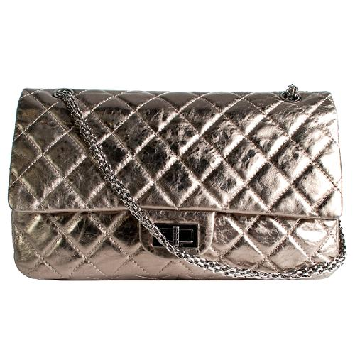Chanel Reissue 2.55 Classic 227 Quilted Double Flap Shoulder Handbag