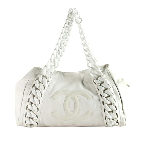 74810390e8f7 Chanel Rhodoid Calfskin  Modern Chain  Large Tote