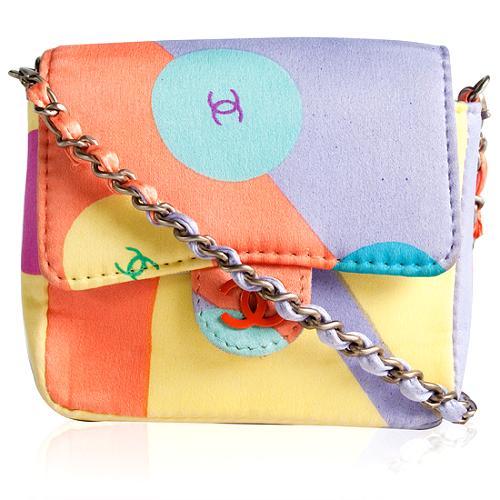 Chanel Satin Mini Shoulder Handbag