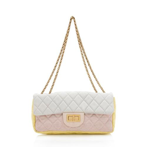 Chanel Satin Reissue East/West Flap Shoulder Bag