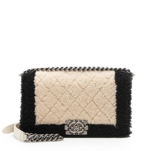Chanel Shearling Old Medium Boy Bag