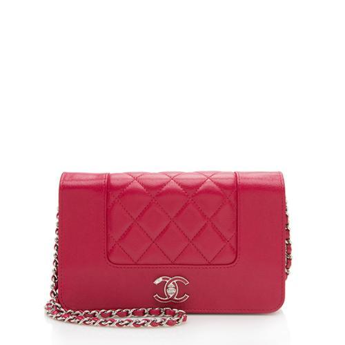 Chanel Sheepskin Mademoiselle Vintage Wallet On Chain Bag