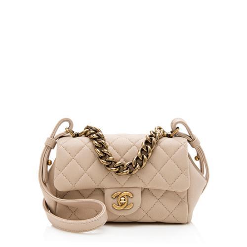 Chanel Sheepskin Trapezio Mini Flap Bag