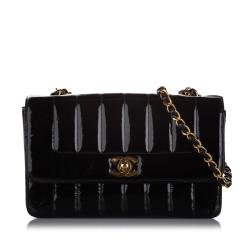 Chanel Small Mademoiselle Ligne Patent Leather Flap Bag