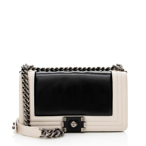 Chanel Smooth Calfskin Medium Boy Bag