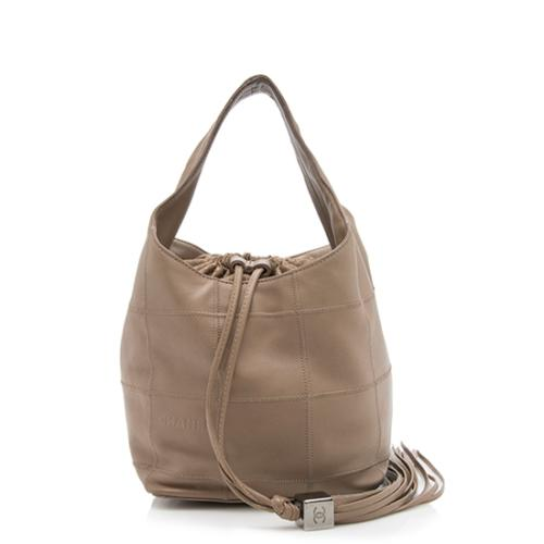 Chanel Square Quilted Lambskin Drawstring Hobo - FINAL SALE