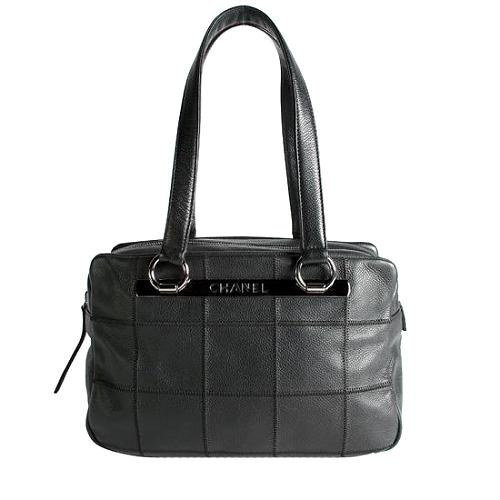 Chanel Square Quilted Large Tote