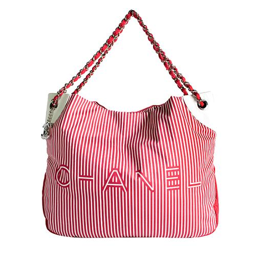 Chanel Striped Cruise Collection Tote