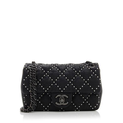 Chanel Studded Lambskin Dallas Paris Small Flap Bag