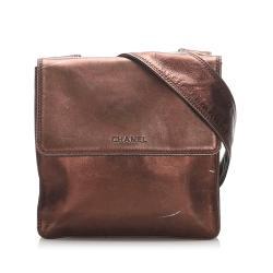 Chanel Metallic Leather Crossbody Bag
