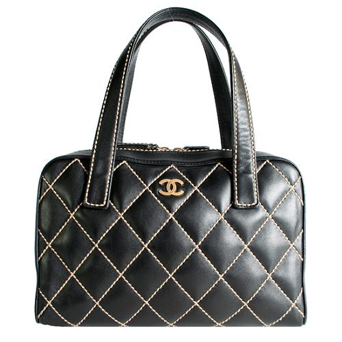 Chanel Surpique Bowler Satchel