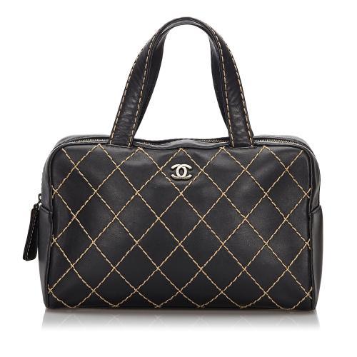 Chanel Surpique Leather Satchel