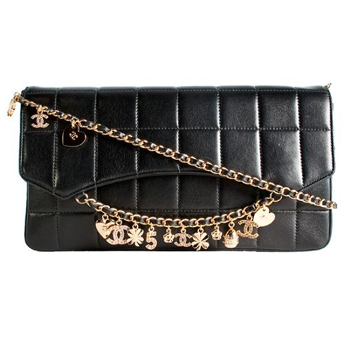 Chanel Swarovski Crystal Charms E/W Flap Shoulder Handbag