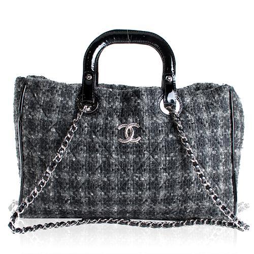 Chanel Tweed Multi Handle Tote