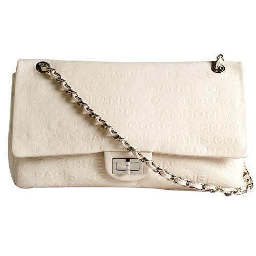 Chanel Unlimited Calfskin Classic Jumbo Flap Shoulder Handbag