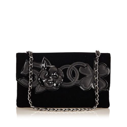 Chanel Velvet No. 5 Camelia Flap Bag