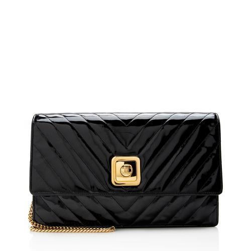 Chanel Vintage Chevron Patent Leather Flap Bag - FINAL SALE
