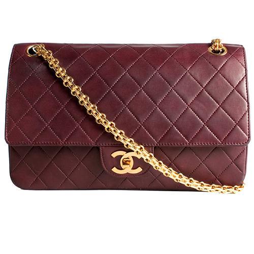 Chanel Vintage Classic 2.55 Quilted Lambskin Medium Double Flap Shoulder Handbag