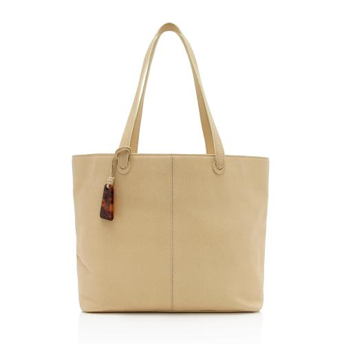 Chanel Vintage Grained Leather Charm Tote