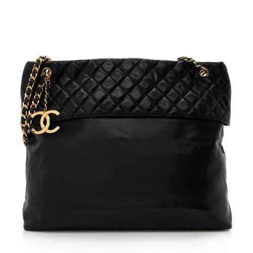 Chanel Vintage Lambskin Chain CC Tote