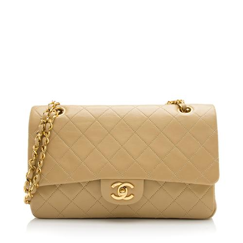 Chanel Vintage Lambskin Classic Medium Double Flap Bag