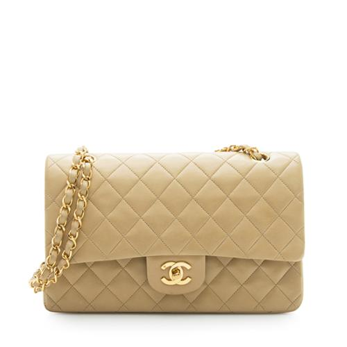 Chanel Vintage Lambskin Classic Medium Double Flap Bag