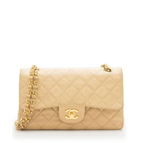 Chanel Vintage Lambskin Classic Small Double Flap Bag