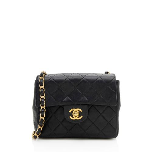 Chanel Vintage Lambskin Classic Square Mini Flap Bag