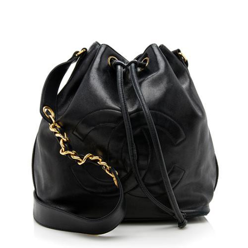 Chanel Vintage Lambskin Drawstring Shoulder Bag