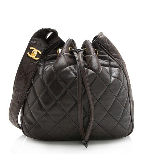 Chanel Vintage Lambskin Drawstring Shoulder Bag