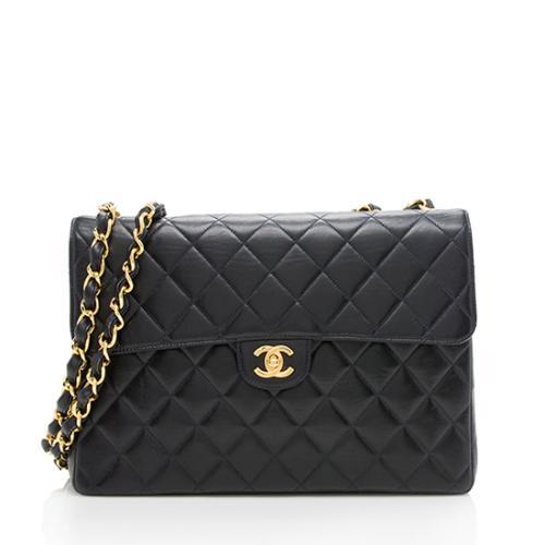 Chanel Vintage Lambskin Jumbo Single Flap Bag