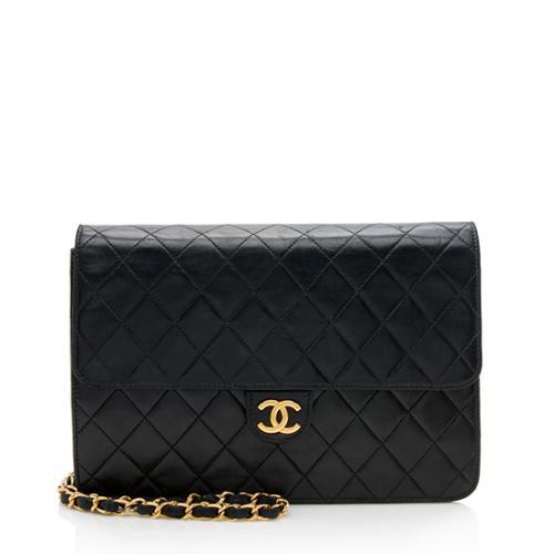 Chanel Vintage Lambskin Medium Snap Flap Bag