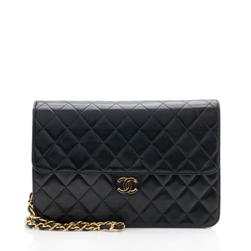 Chanel Vintage Lambskin Medium Snap Flap Bag