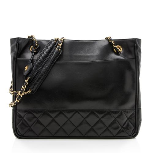 Chanel Vintage Quilted Lambskin Tote - FINAL SALE