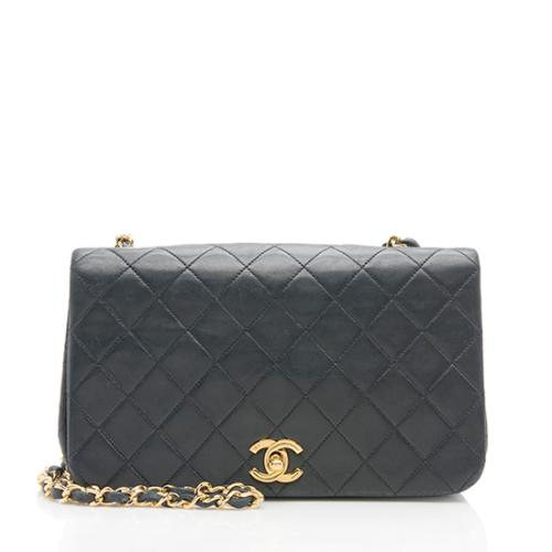 Chanel Vintage Lambskin Turnlock Small Flap Bag