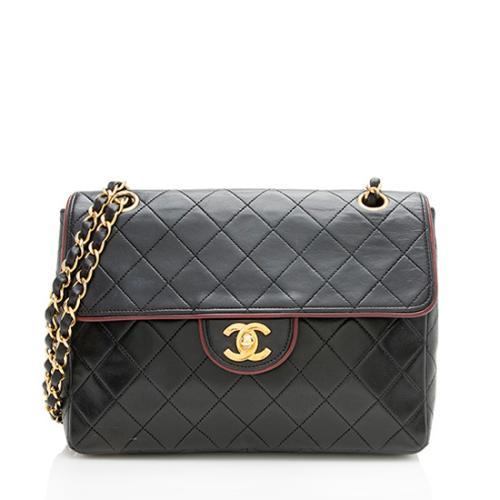 Chanel Vintage Lambskin Square Flap Shoulder Bag
