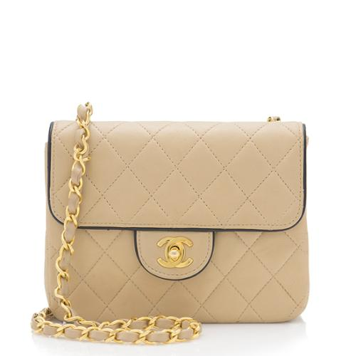 Chanel Vintage Lambskin Square Mini Flap Shoulder Bag