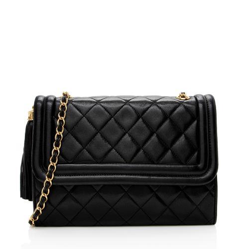 Chanel Vintage Lambskin Tassel Flap Bag
