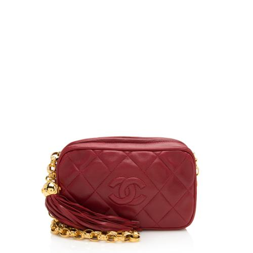Chanel Vintage Lambskin Tassel Small Crossbody Bag