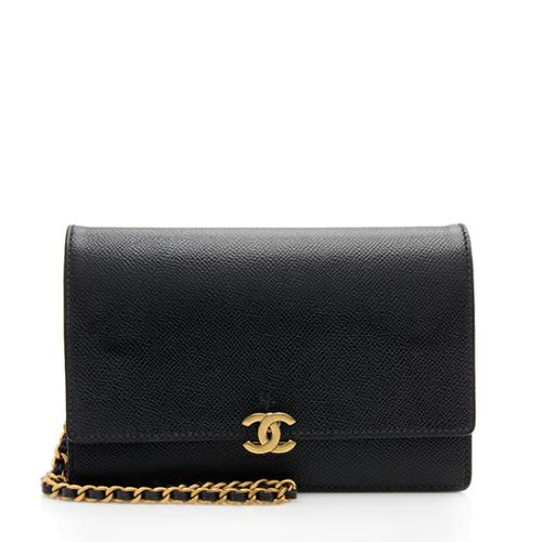 Chanel Vintage Leather CC Wallet on Chain Bag