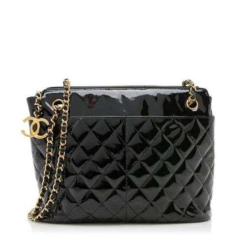 Chanel Vintage Patent Leather CC Shoulder Bag