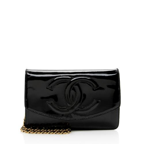 Chanel Vintage Patent Leather Timeless Wallet on Chain Bag