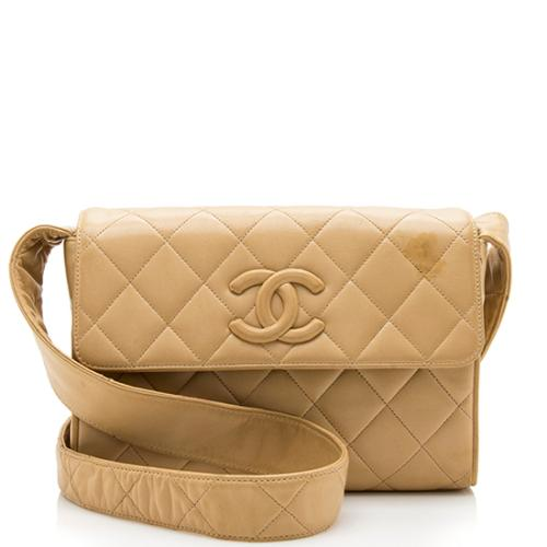 Chanel Vintage Quilted Lambskin CC Shoulder Bag - FINAL SALE