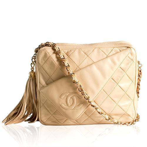 Chanel Vintage Quilted Lambskin Camera Shoulder Handbag - FINAL SALE