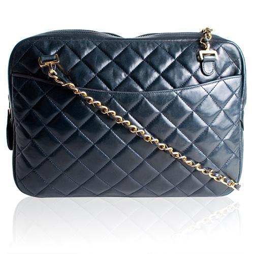 Chanel Vintage Quilted Lambskin Camera Shoulder Handbag