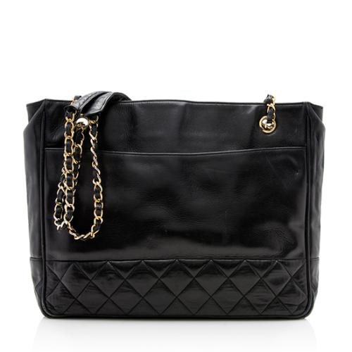 Chanel Vintage Quilted Lambskin Tote